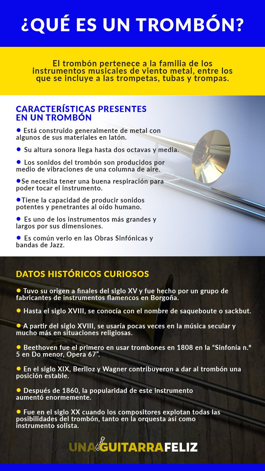 Características trombón - unaguitarrafeliz.es